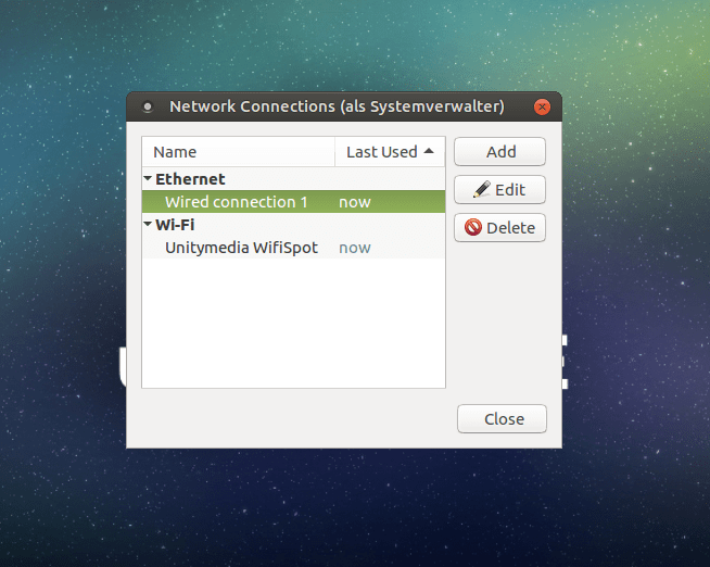 Ubuntu Mate Connected State